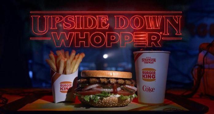 Arriva il Whopper Sottosopra di Burger King per celebrare la nuova stagione di Stranger Things