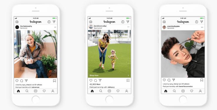 Su Instagram ora le aziende possono sponsorizzare i contenuti brandizzati