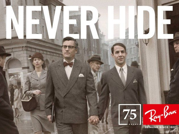 ray ban, never hide, pride