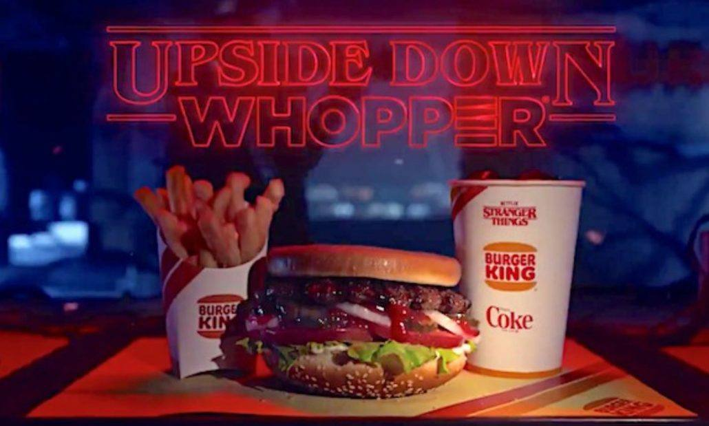 burger king whopper upside down