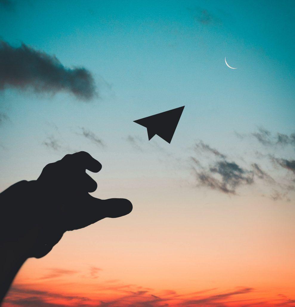 lancio aeroplano luna