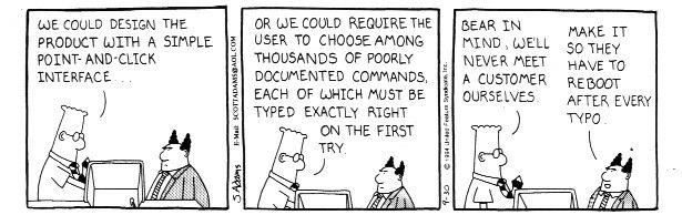 Usabilità - Dilbert Cartoon