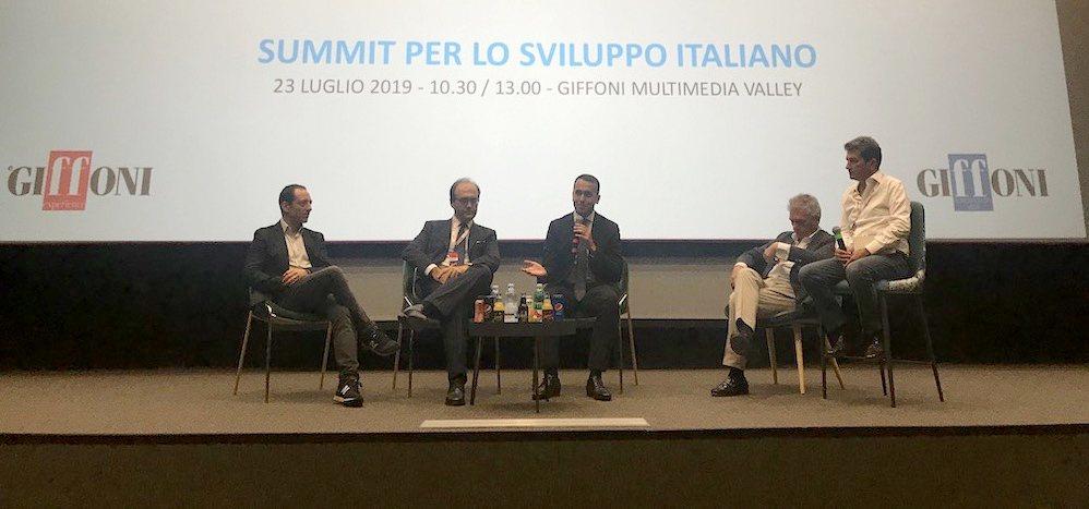 Di Maio a Giffoni: alle aziende 40 mila euro per assumere Chief Innovation Manager