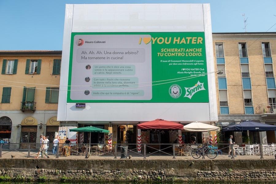 La campagna di Sprite che invita a rispondere con l'amore a chi si nutre di odio
