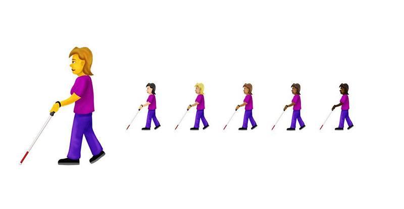 Emoji disabilità visiva