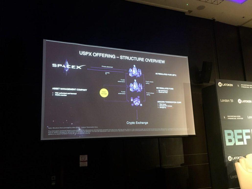 Space X al Blockchain Economic Forum 2019