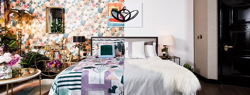 Hotels.com presenta la prima stanza metà minimalista e metà massimalista