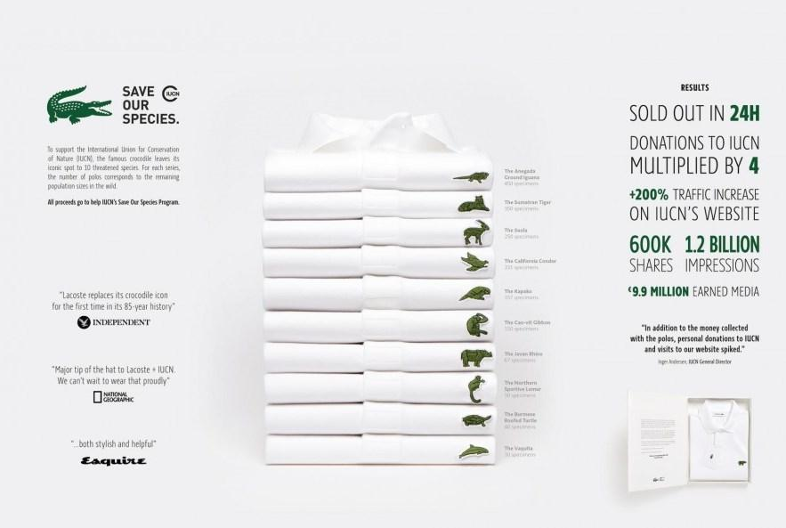 lacoste_save our species_ ninja marketing
