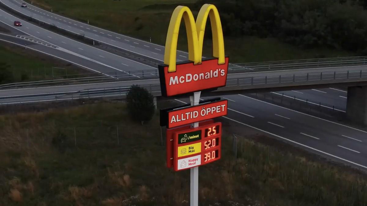 Una nuova insegna per due ristoranti McDonald's in Svezia