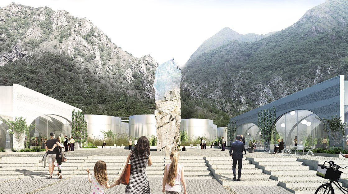 Sanpellegrino Future Factory - BIG - Piazza