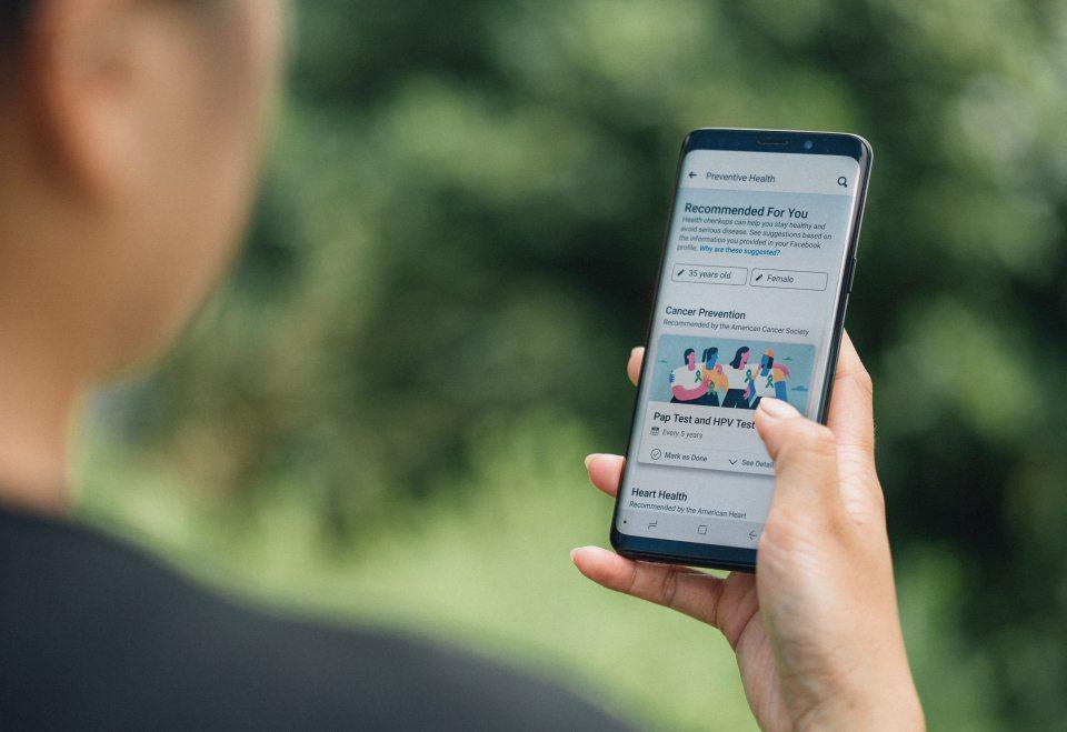 Ora Facebook vuole occuparsi anche della tua salute. Preventive Health