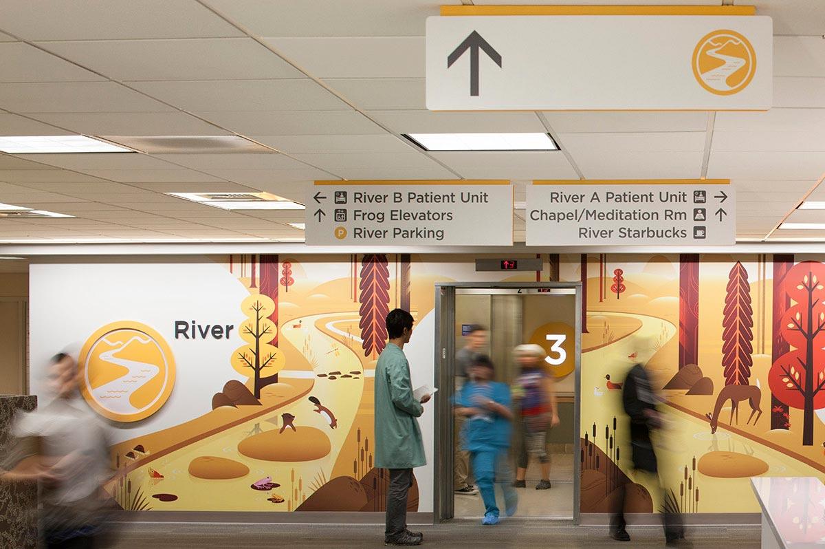 segnaletica direzionale creativa ospedale