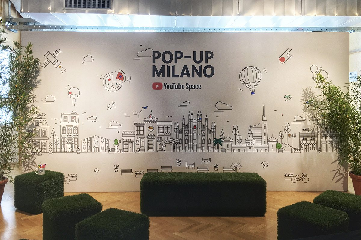 YouTube Pop-up Space Milano
