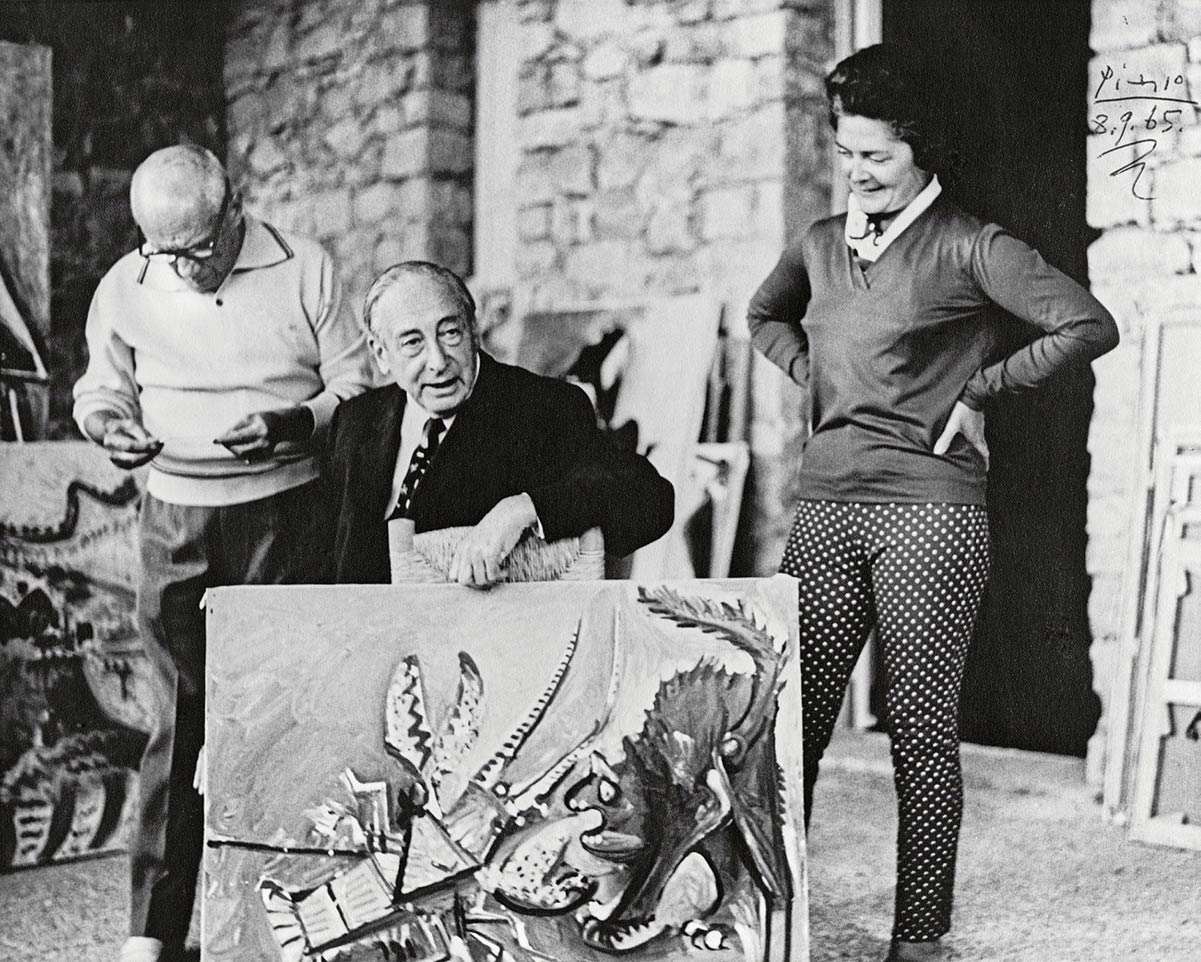 Pablo Picasso, Justin K. Thannhauser e Hilde Thannhauser