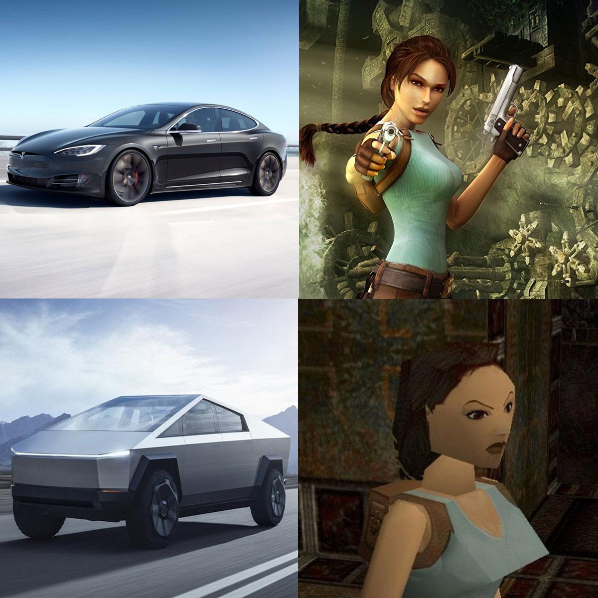 Cybertruck Tesla Meme - Tomb Raider