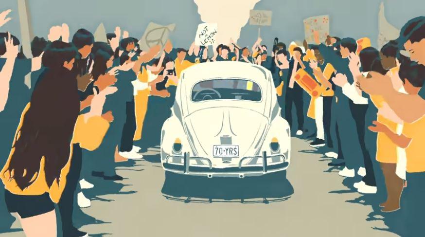 Volkswagen dice addio allo storico Maggiolino con una emozionante animazione