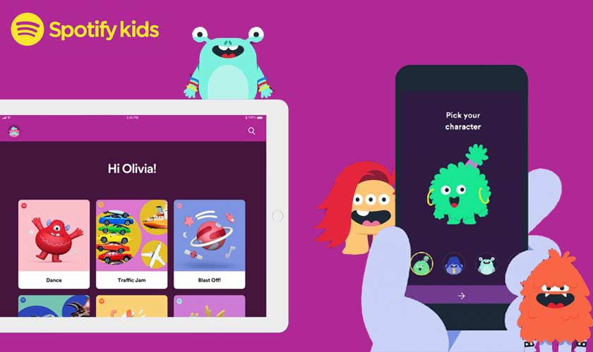 Spotify Kids UI