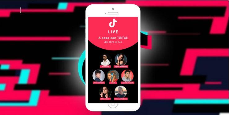 A casa con TikTok: al via le live streaming con artisti e creator