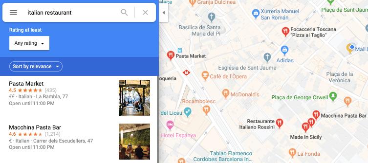 ristoranti su google coronavirus