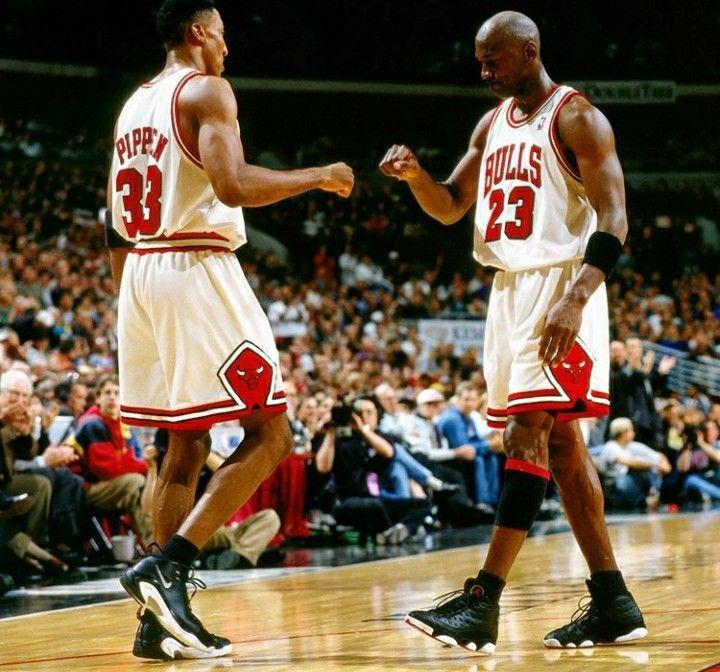 Jordan and Scottie Pippen
