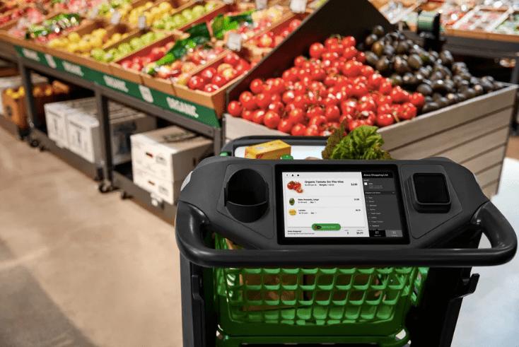 Amazon lancia il Dash Cart: un nuovo modello di carrello intelligente