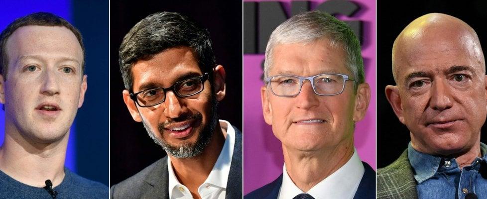 Amazon, Facebook, Apple e Google: i quattro titani del Tech interrogati dal Congresso