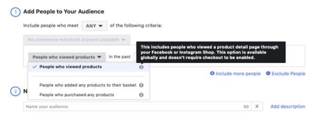 facebook audience shopping