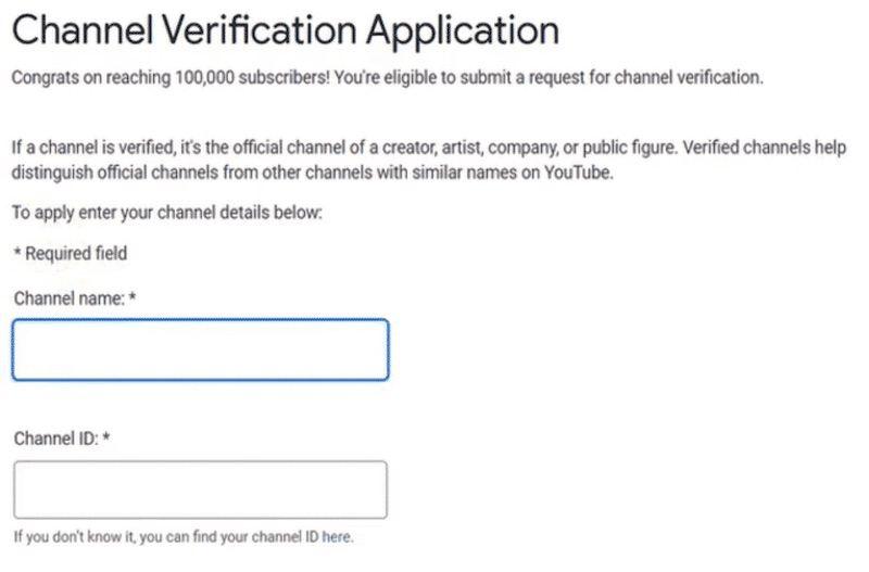 Account verificato su Youtube