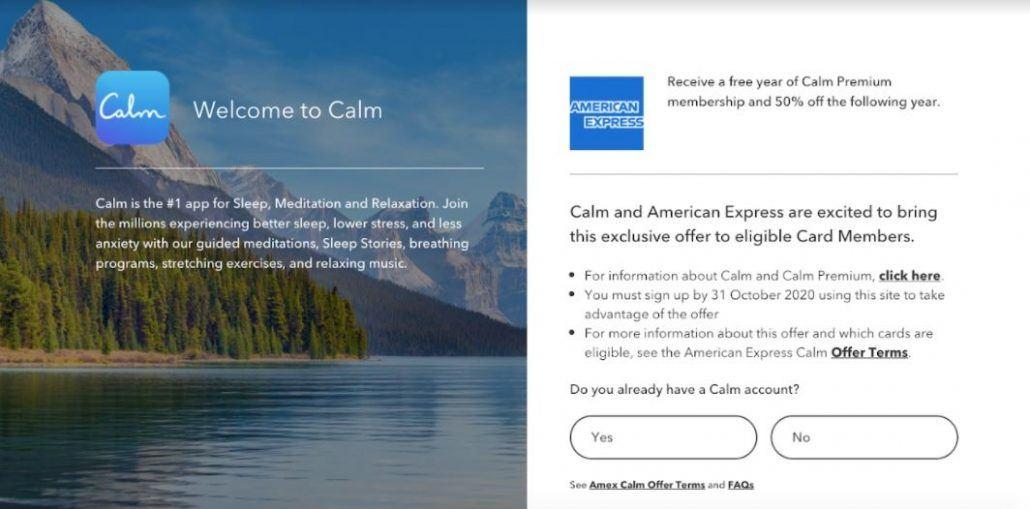 american express calm