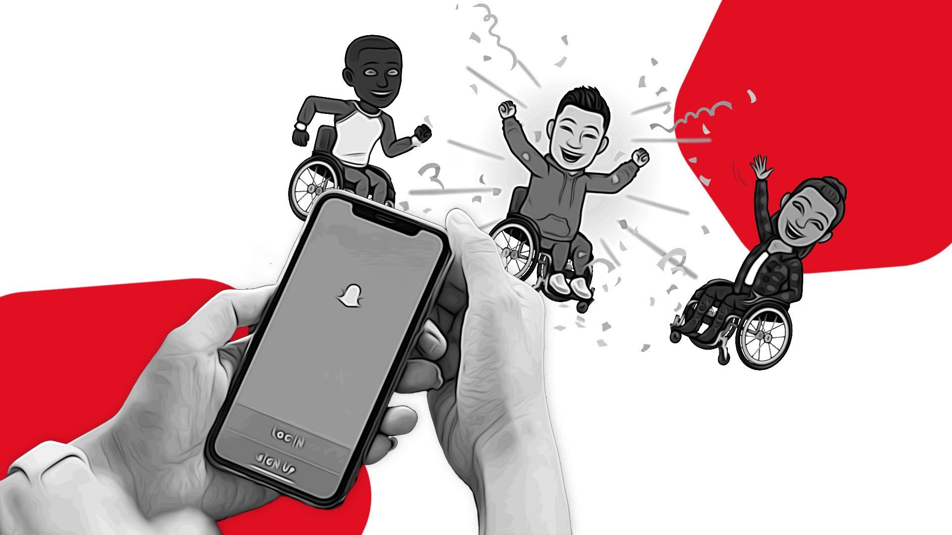 Snapchat e Bitmoji testano gli avatar Snapchatter in sedia a rotelle