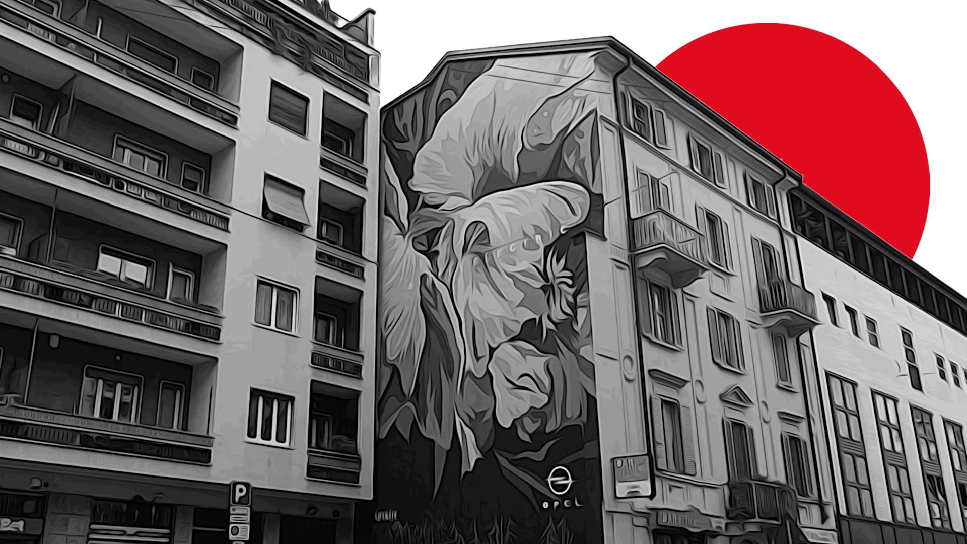LifeGate Wall: Opel inaugura il muro dedicato alla sostenibilità tra i palazzi di Milano