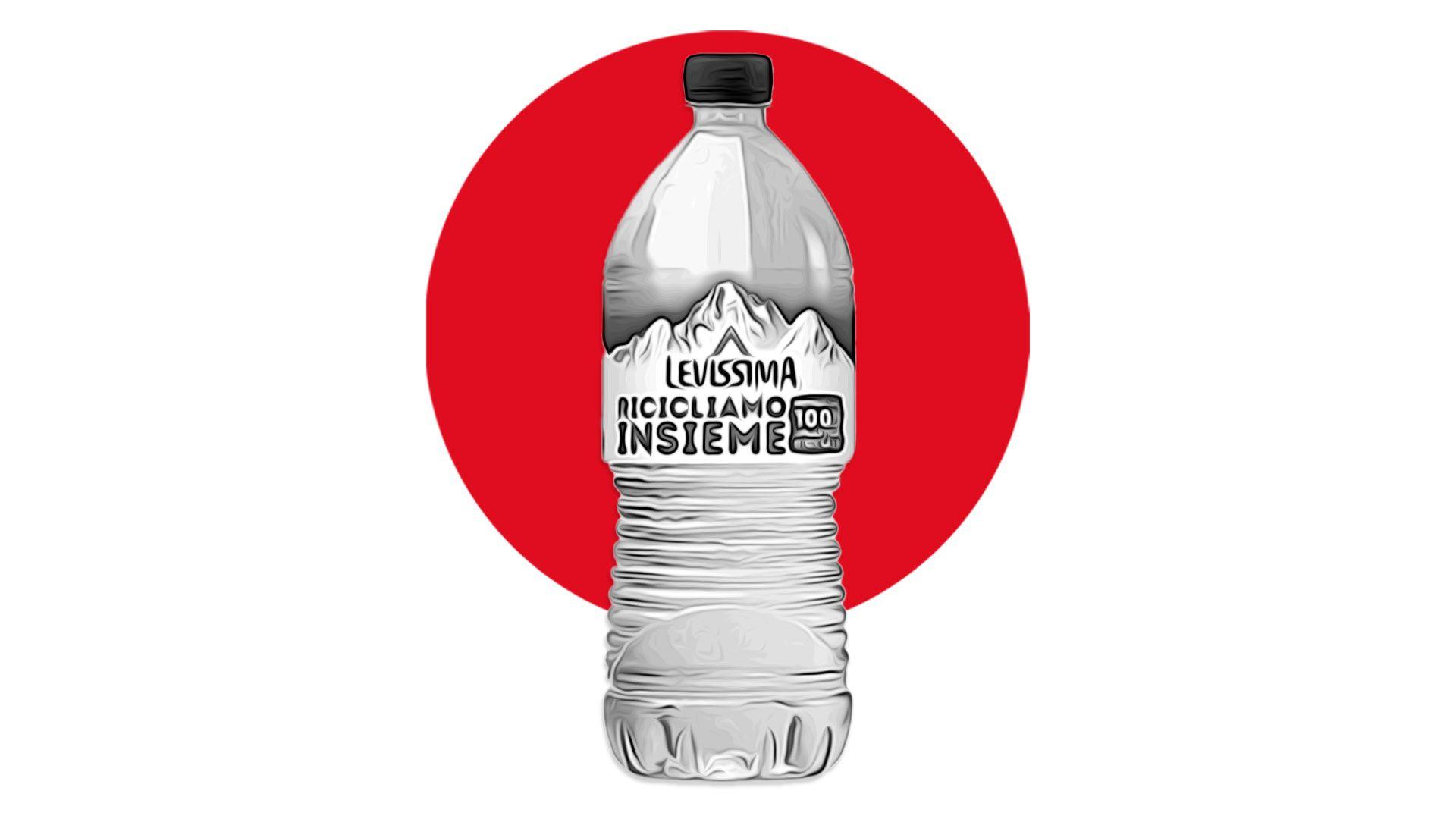 Arriva Levissima R-PET: la prima bottiglia in plastica riciclata