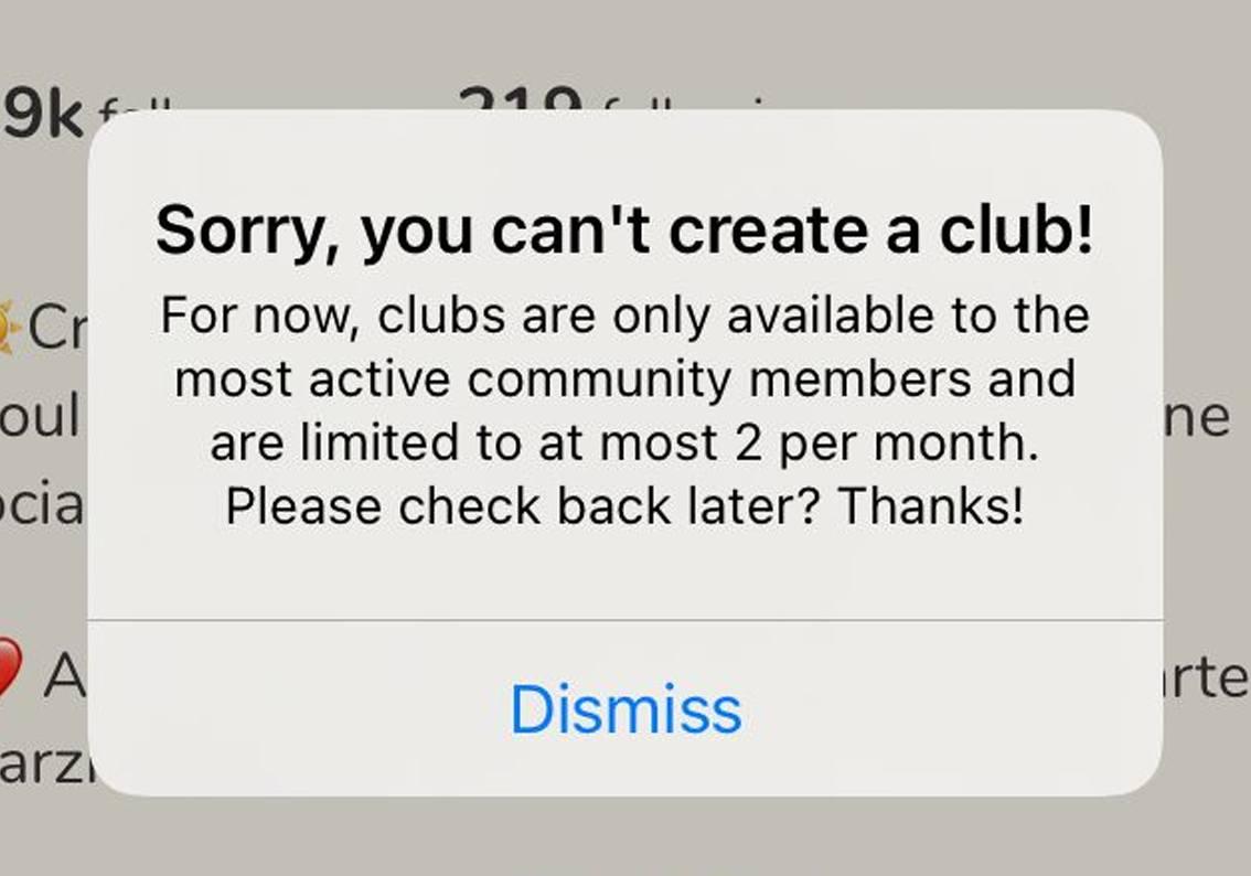 limitazioni club clubhouse