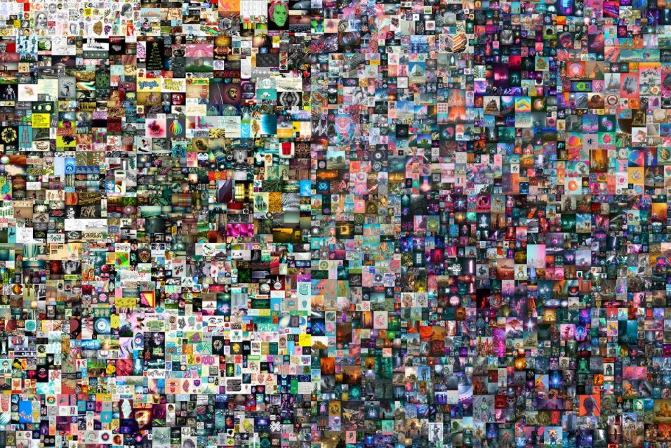 mike winkelmann beeple collage NFT