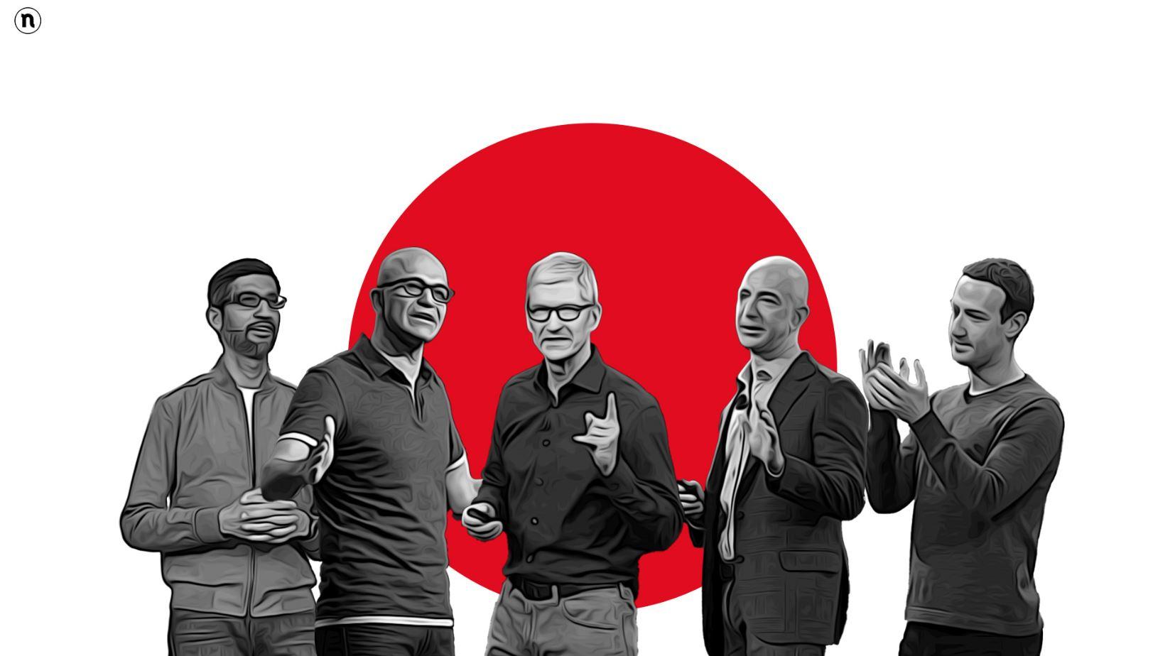 I 5 giganti del tech sono cresciuti a di …