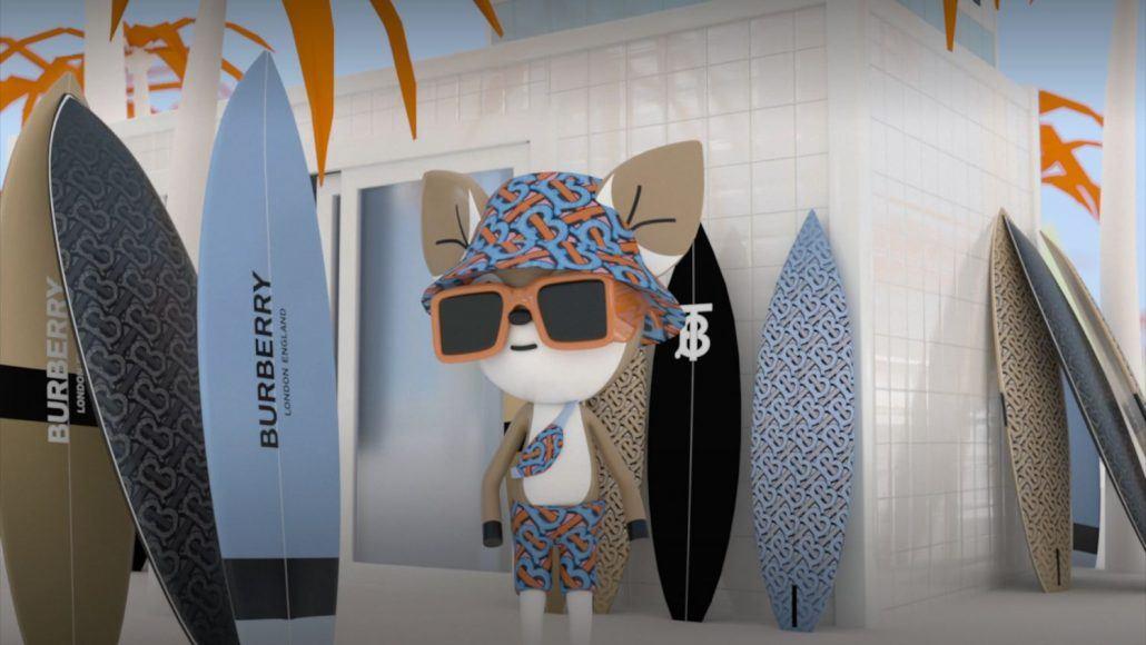 Burberry videogame B-Surf