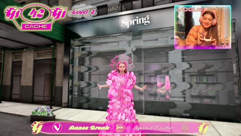Gigi Hadid Virtual Fashion Vogue