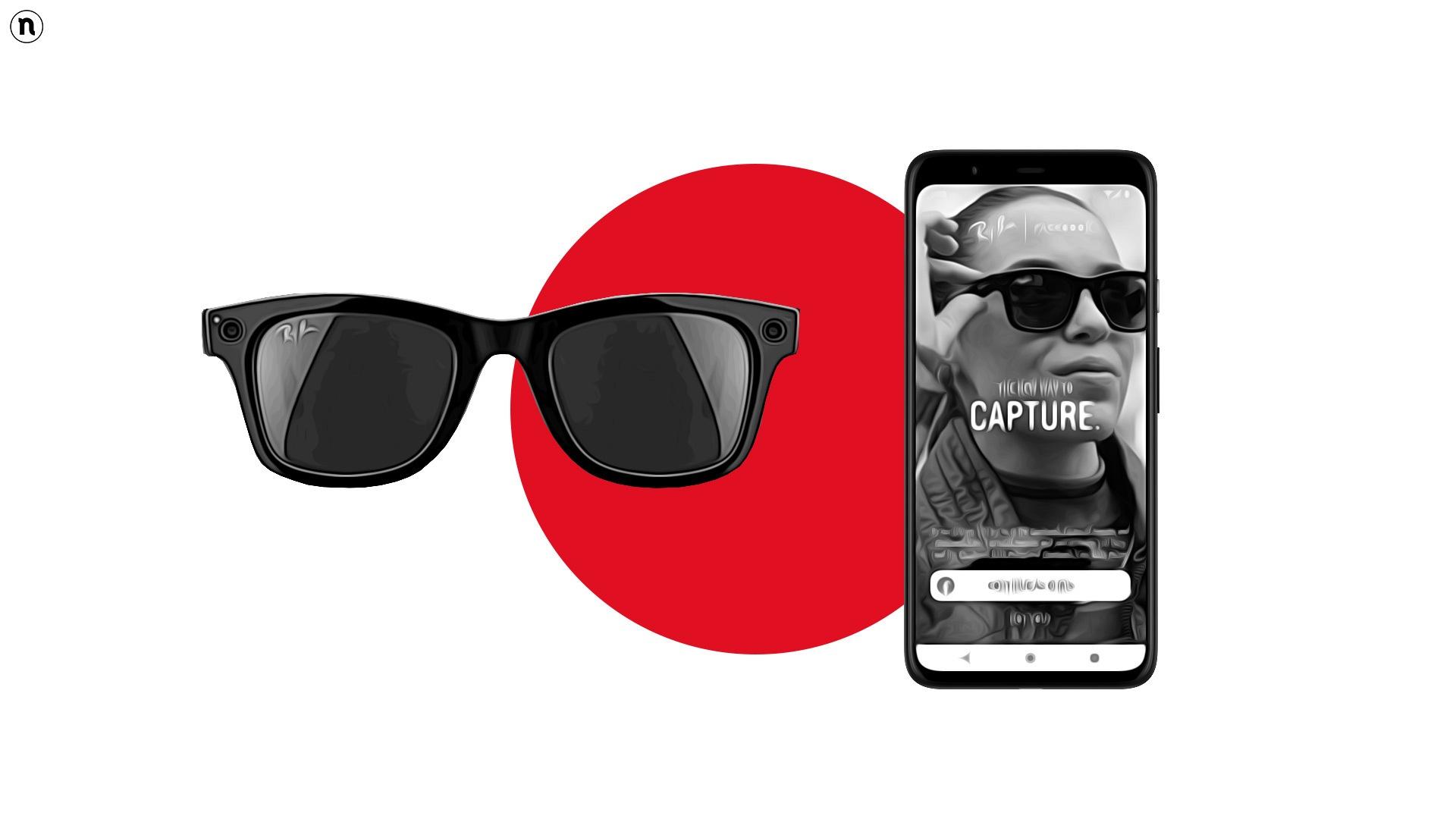 """Ray-Ban e Facebook lanciano gli smart glasses """"Ray-Ban Stories"""""""