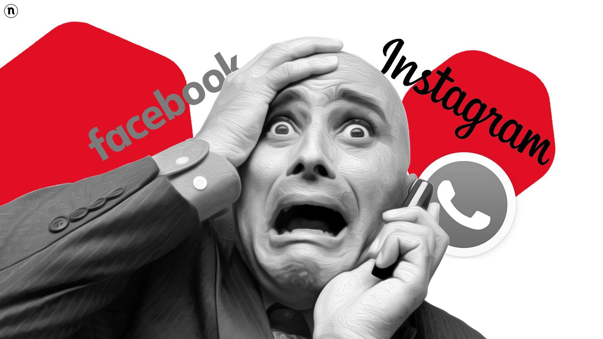 Instagram, Facebook e WhatsApp non funzionano, blackout totale del Zuckerverse